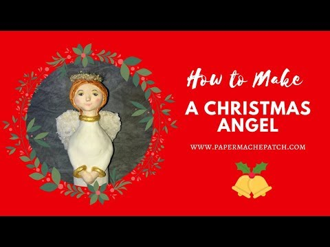 How to make a Christmas Angel Mixed Media Art Doll