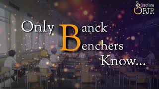 Back Bencher's Whatsapp Status Video|| created by SPJR Creations...
