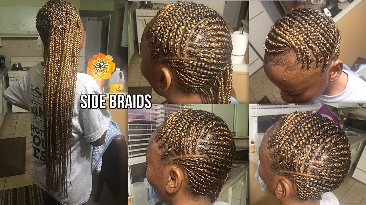 Trying Small Feed In Blonde Lemonade Braids Youtube