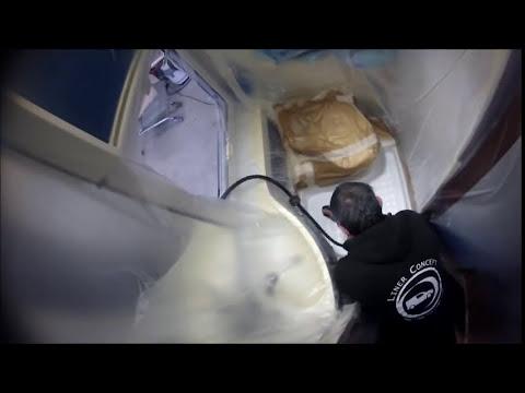 r paration bac de douche avec le proc d speedcoat par liner concept youtube. Black Bedroom Furniture Sets. Home Design Ideas