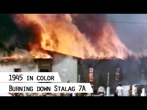 Liberated US-Prisoners burn down Stalag 7A (SFP 186)