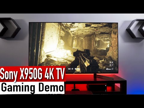 2019 Sony X950G (XG95) 4K HDR TV Xbox One X Gaming Demo [4K HDR]