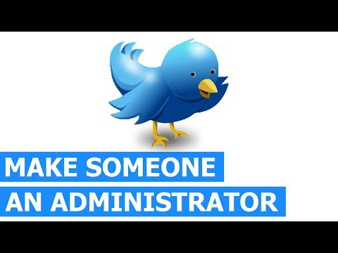 How do you make someone an administrator on Twitter (easy & quick way)