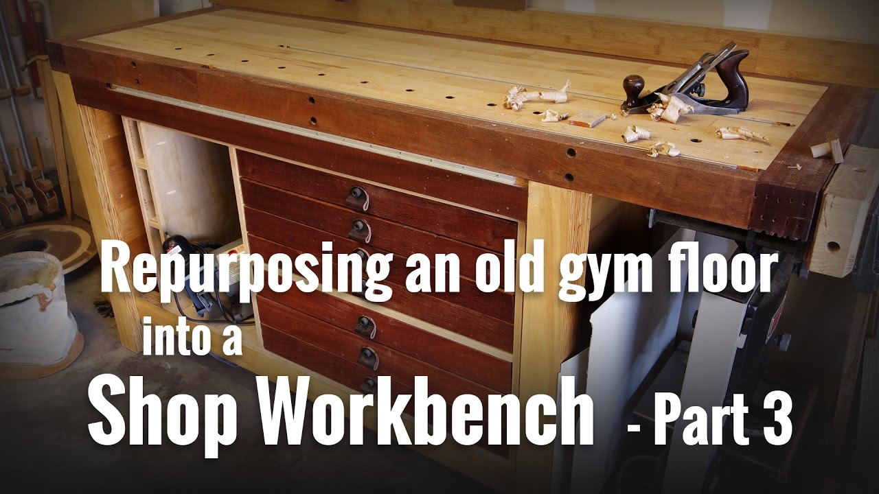 Workbench Build Part 3 Storage Cabinet And Completing Vise Youtube