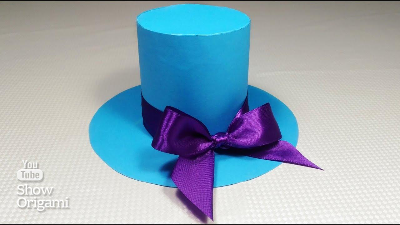 Как сделать Шляпу 🎩 из бумаги своими руками - Оригами шляпка из бумаги