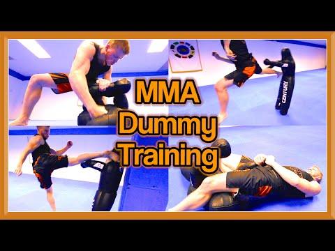 MMA & Taekwondo Training on Century Dummy   Ginger Ninja Trickster
