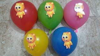 Learn Colours Balloons Compilation Mega Gummy Bear - Finger Family Nursery Rhyme Songs For Kid