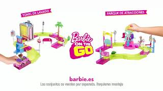 Mattel - Barbie On The Go - Túnel de lavado y Parque de atracciones