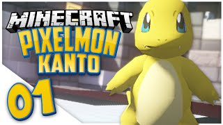 Minecraft Pixelmon Kanto: Episode 1 - SHINY CHARMANDER (Pixelmon Public Server)