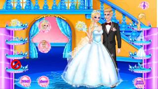 Frozen Elsa wedding dress up with king for kids, How to dress up for Princess Ice Elsa wedding for c
