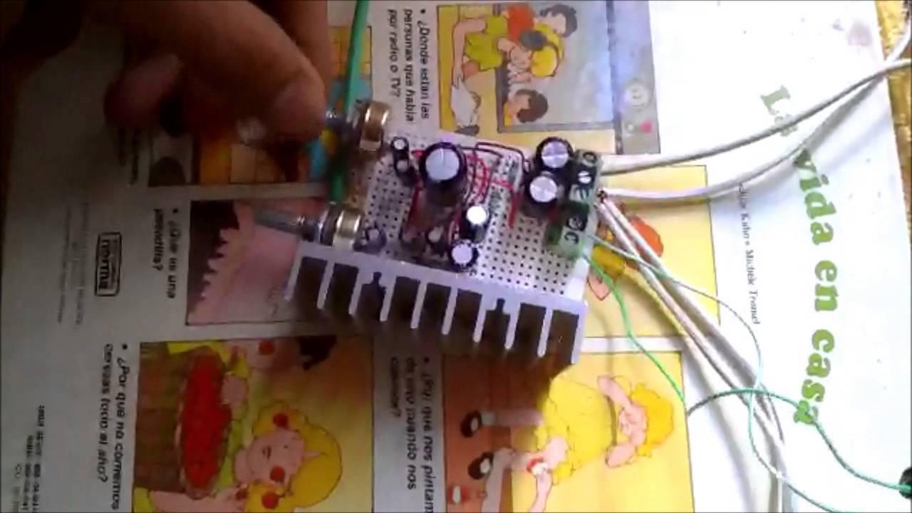 Amplificador Tda2004 Youtube Schematic Audio Amplifier With Ic