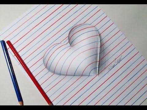 Como Desenhar Coracao 3d Passo A Passo Youtube