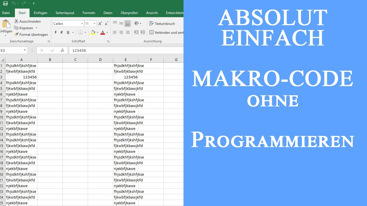 Excel Makros Programmieren