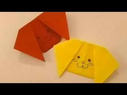 ハート 折り紙 折り紙 犬 簡単 : popmatx.com