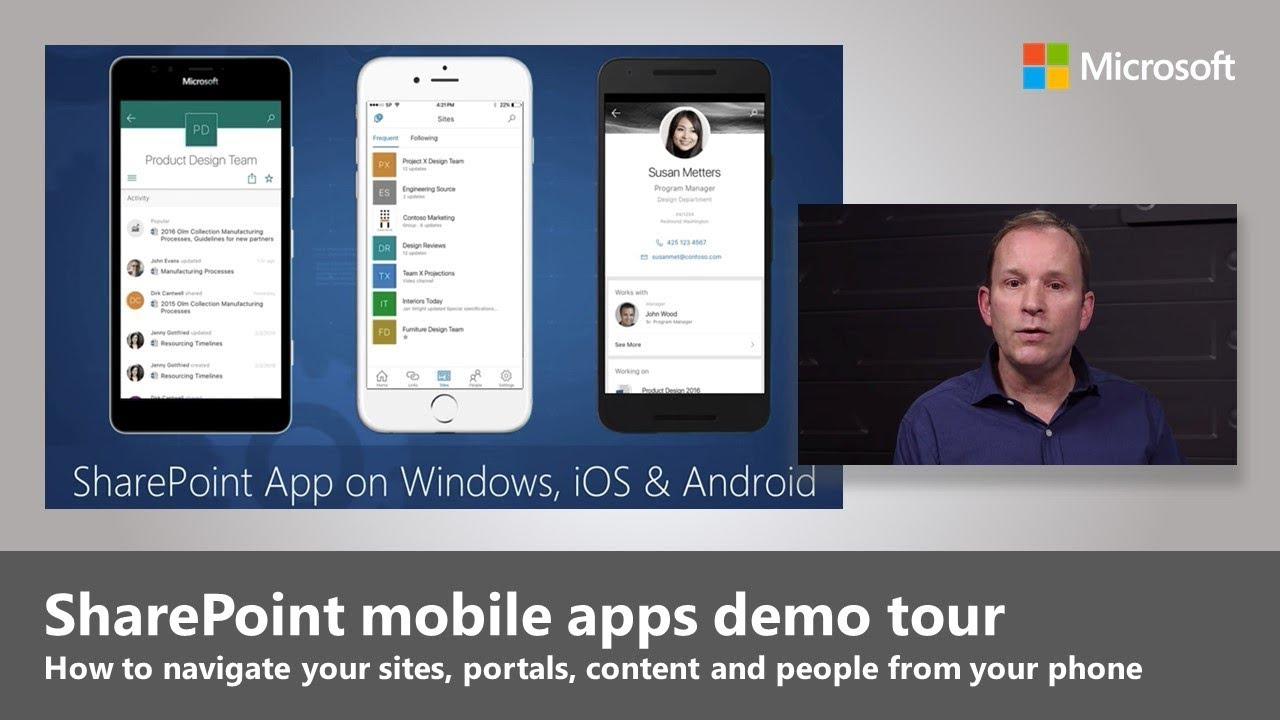 Risultati immagini per sharepoint mobile app