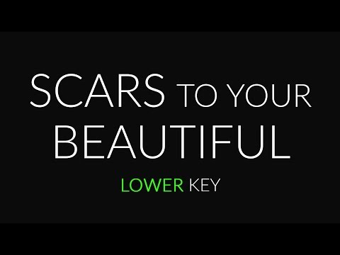 Scars to Your Beautiful (Lower Piano karaoke) Alessia Cara
