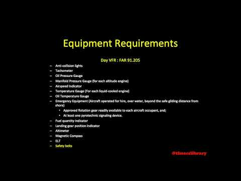 PA.I.B.K3 Equipment Requirements For Day And Night VFR Flight