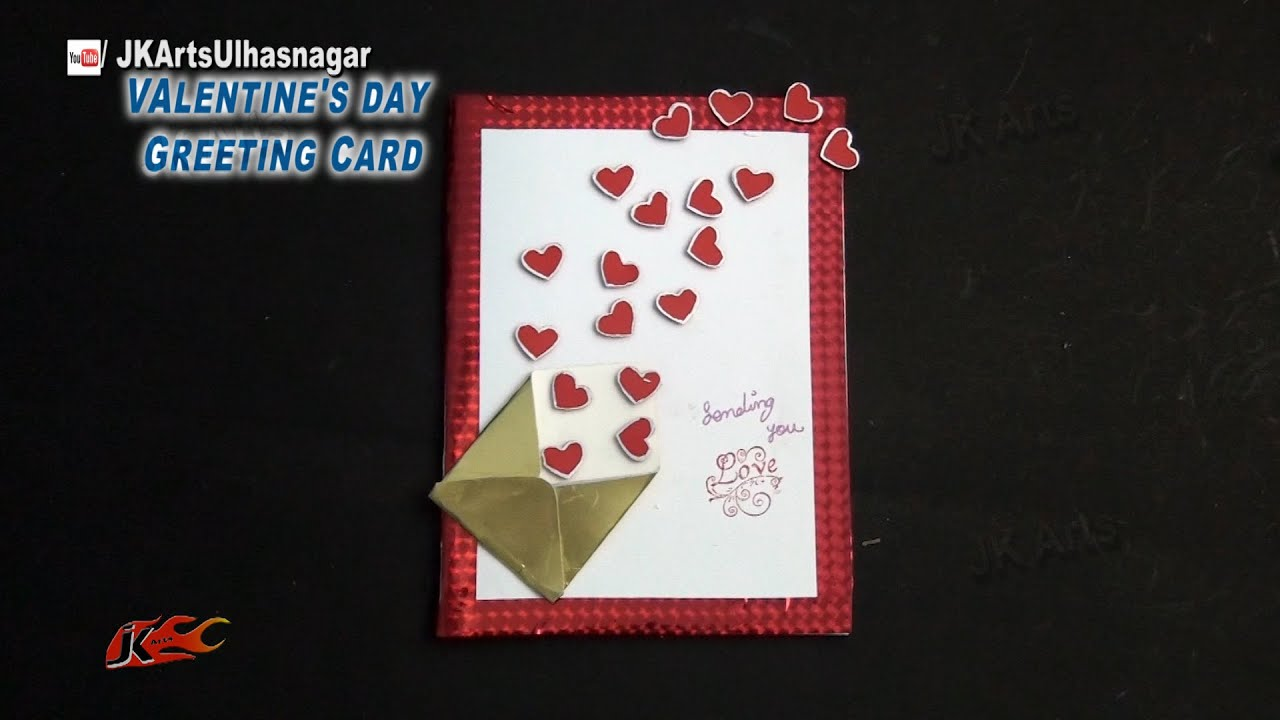 diy valentine's day heart greeting card  how to make  jk