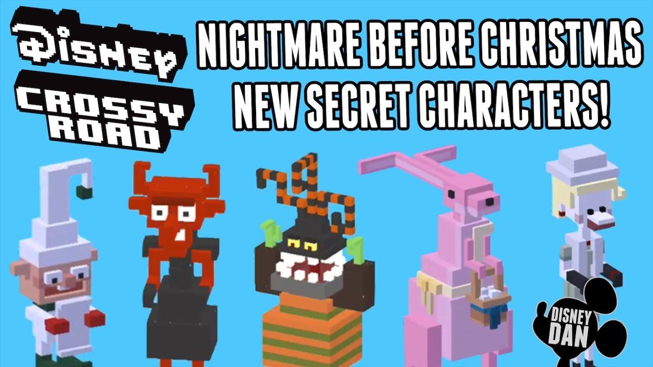 disney crossy road nightmare before christmas secret characters unlocked october update - Characters In Nightmare Before Christmas