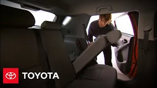 Matrix How-to: 60/40 Split Fold-down Rear Bench Seat Operation | 2011-2012 Matrix | Toyota