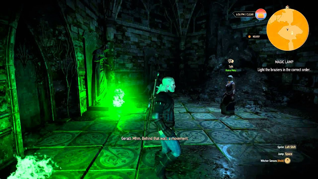 The Witcher 3 - Magic Lamp Puzzle - YouTube