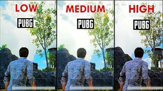 PUBG MOBILE HIGH vs LOW GRAPHICS COMPARISON ( iOS / Android ) ONE PLUS 5T HD