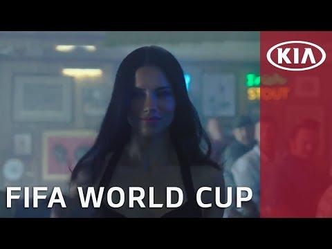 Adriana Lima Brings Futbol to a Sports Bar l FIFA World Cup l Kia