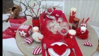 Декор к дню Валентина. Декор стола. Decor for Valentine's day.