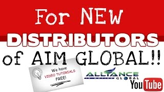 Bagong REGISTERED DISTRIBUTOR ka ba ng AIM GLOBAL? watch mo'to! (TAGALOG)