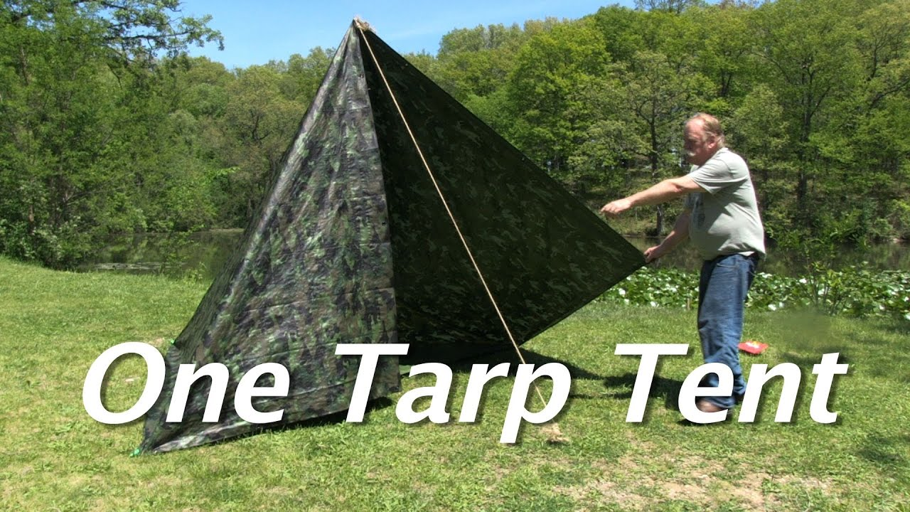 One Tarp Tent - Make a simple tent (with a floor and a door) for $15 : making a tent from a tarp - memphite.com