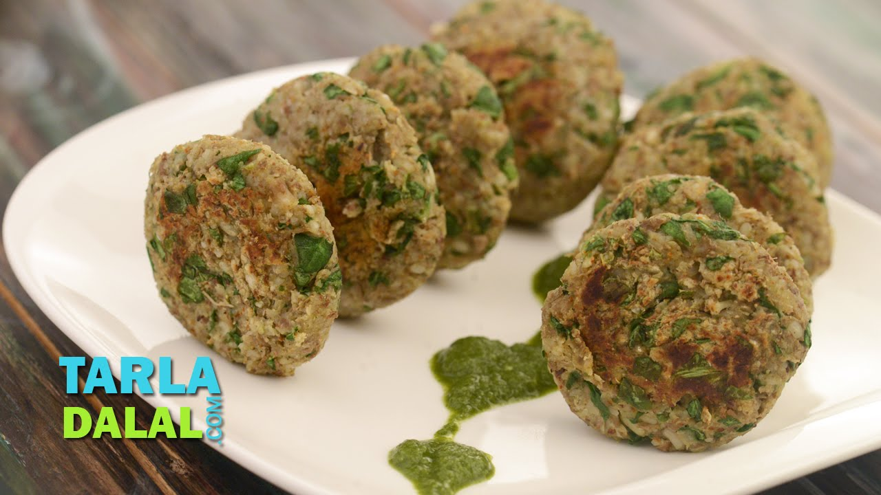Lehsuni matki palak tikki low cholesterol and healthy for Ancient indian cuisine