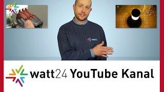 Der watt24 YouTube Kanal - Videos rund um das professionelle Licht