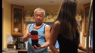 MADE THE SODA EXPLODE ON MY DAD | Kylie Moy
