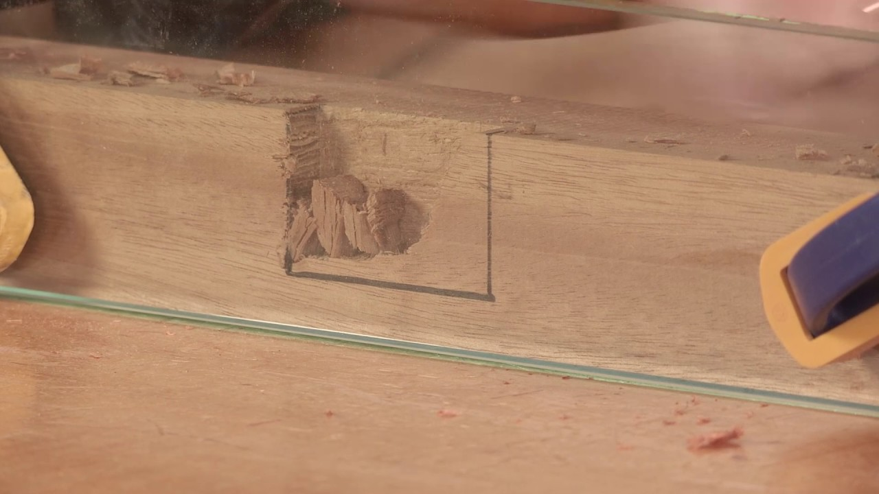 Chopping A Mortise Under Glass