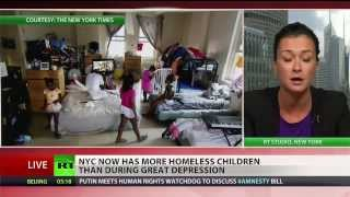 Most homeless children in NYC since Great Depression