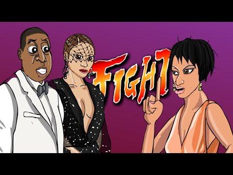 Solange Attacks Jay-Z ft. Beyonce (CARTOON PARODY)