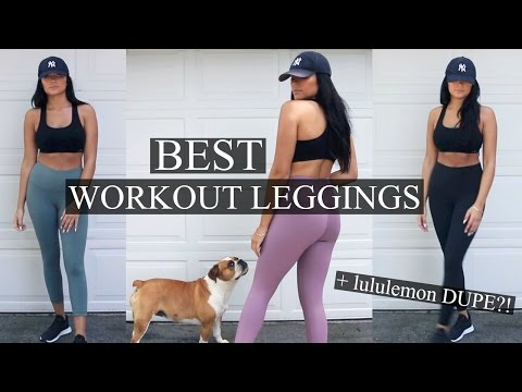 fbd5d57eca BEST WORKOUT LEGGINGS: High/Low End + Lululemon DUPE!? | Stephanie Ledda -  YouTube