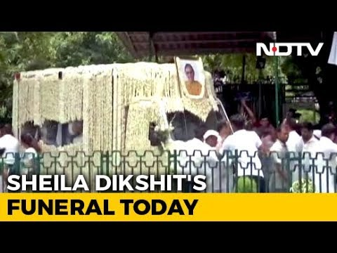 Sheila Dikshit's Body Brought To Congress Office; Last Rites Later Today