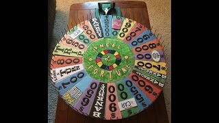 my completely restored homemade wheel of fortune round 1 demo spins