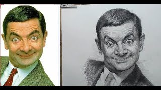 How to Draw Mr.Bean in Pencil | Real Time