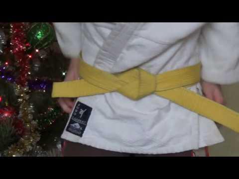 Как правильно завязать пояс на кимоно для дзюдо