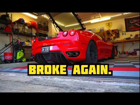 How to change the coolant, thermostat, & accessory belt on a Ferrari F430