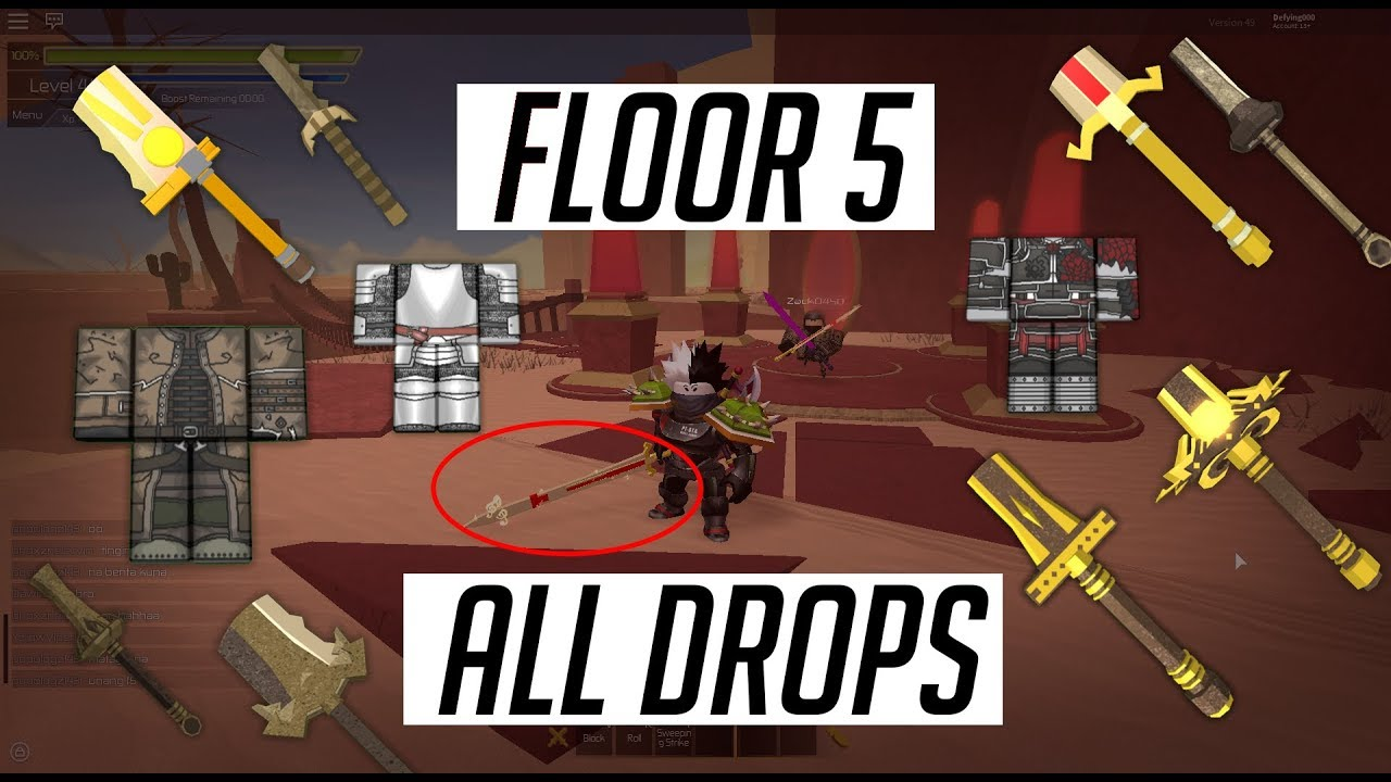 Floor 5 all drops item stats swordburst 2 rare drops for Floor 5 map swordburst 2