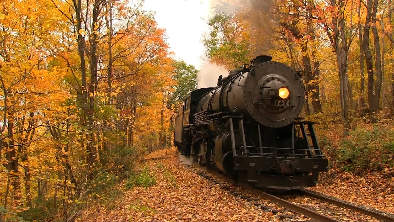 Fall Foliage Wallpaper Western Maryland Scenic Railroad 734 Nearing The End Youtube