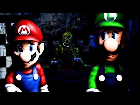 MARIO FREES THE CHILDREN FROM THE PURPLE GUY! | Mario in Animatronic Horror (Five Nights at Freddys)