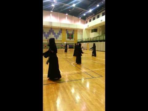 Taipei medical university Kendo training