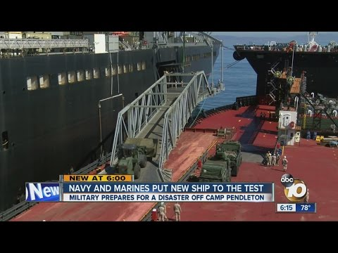 Navy and Marines test out new ship that will aid in natural disaster responses