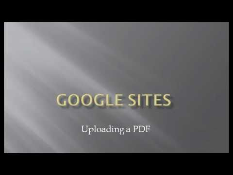 Uploading PDF to Google Site