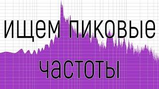 Как узнать пиковую частоту трека, для замера СПЛ