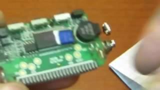 Замена кнопок на брелке сигнализации с обратной связью.